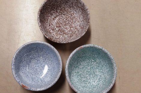 Glazūru granulas T=960-1040◦C